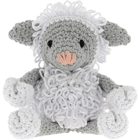 Hoooked - Lamb Lewy Yarn Kit with Eco Brabante Yarn - White & Gray