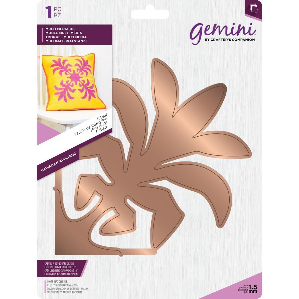 Crafters Companion Gemini Multi Media Hawaiian Dies - Ti Leaf
