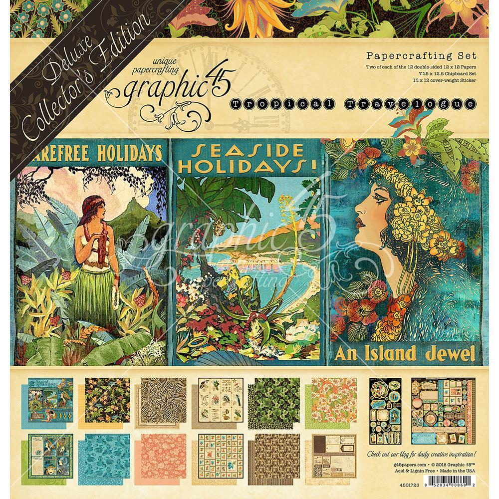 Graphic 45 Floral Shoppe Collection 12 x 12 Collection Kit 4501698