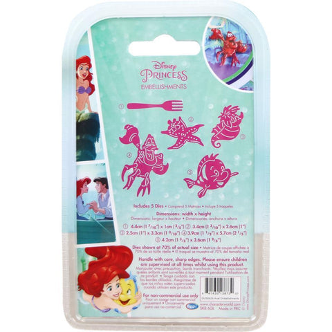 Disney Little Mermaid Embellishments Die Set - Ariel