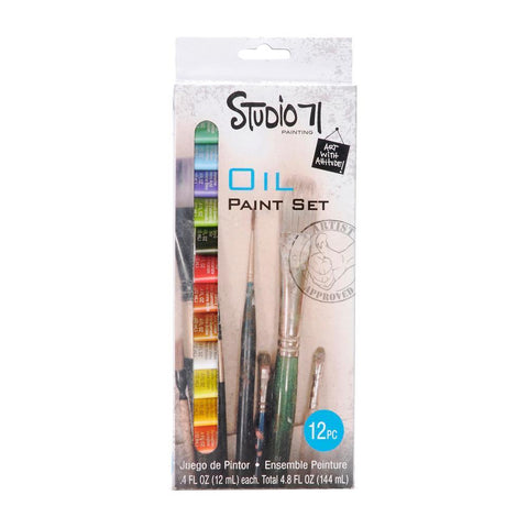 Darice Studio 71 - Oil Paint Set 12ml 12 pack