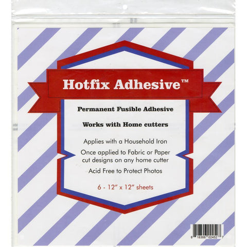 Hotfix Permanent Fusible Adhesive Sheets 6/Pcs 12 inch X12 inch