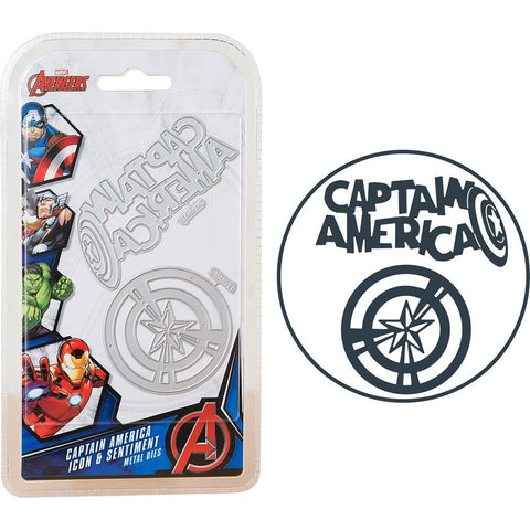 Marvel Avengers Die Set - Captain America Icon & Sentiment