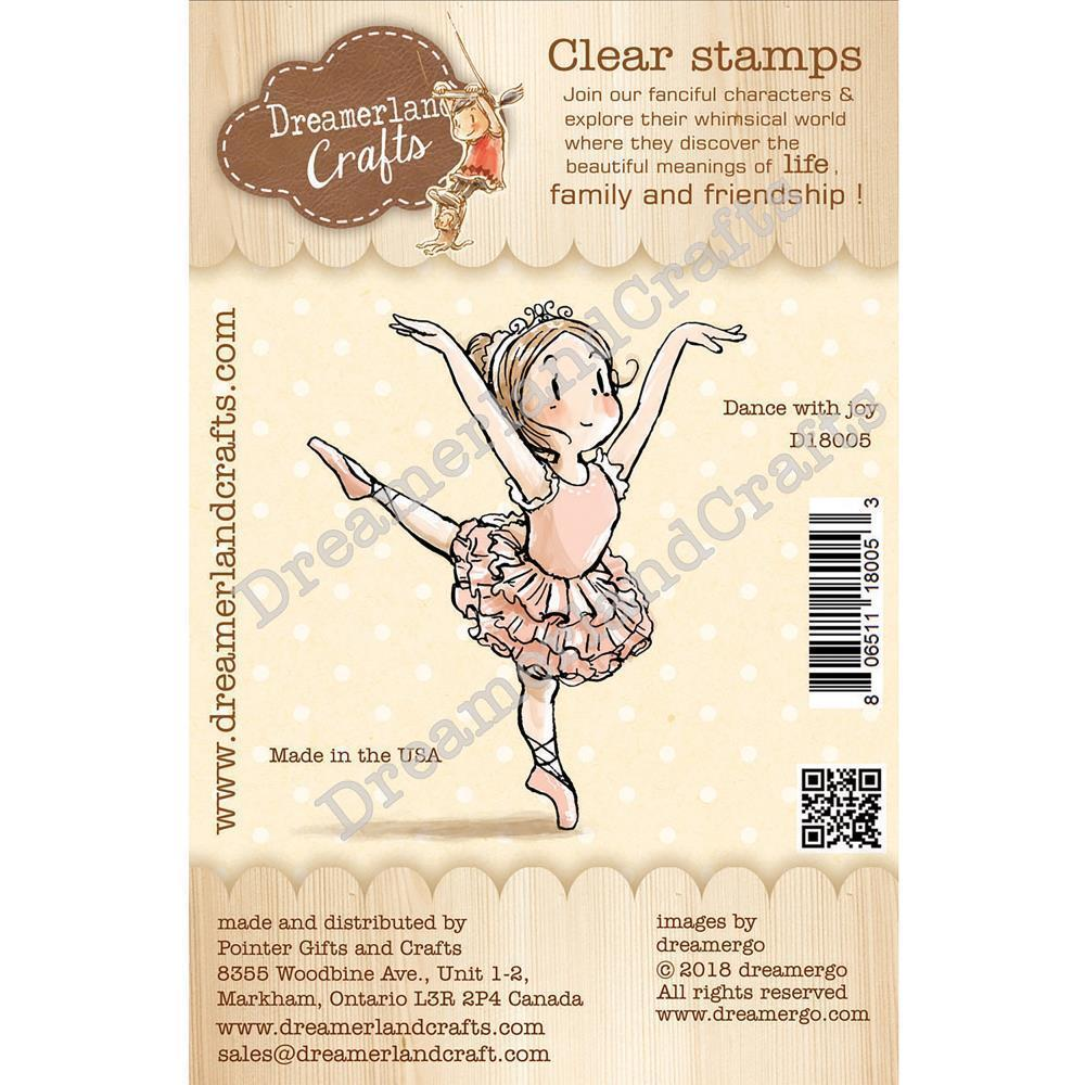 Dreamerland Crafts Clear Stamp Set 2.75x2.75 inch - Dance With Joy