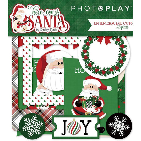 PhotoPlay - Here Comes Santa - Ephemera Die-Cuts 26/ pack