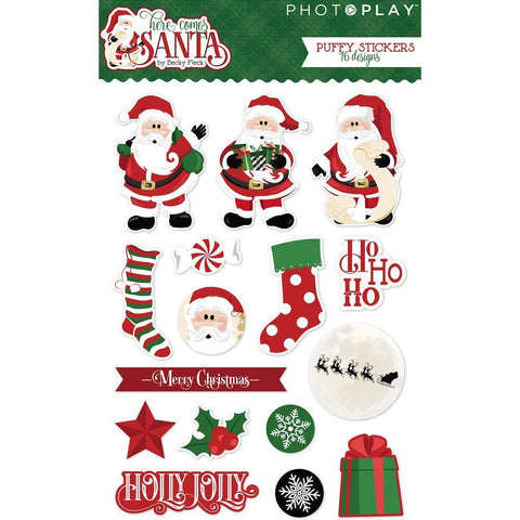 PhotoPlay - Here Comes Santa - Puffy Stickers