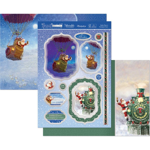 Hunkydory Snow Is Falling Luxury A4 Topper Set - Santa Claus Is Coming To Town