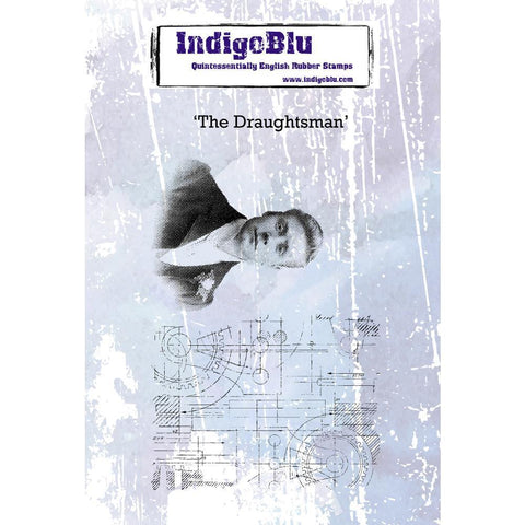 IndigoBlu Cling Mounted Stamp 5x4inch - The Draughtsman