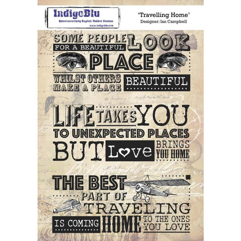 IndigoBlu Cling Mounted Stamp 8x5.5inch - Traveling Home