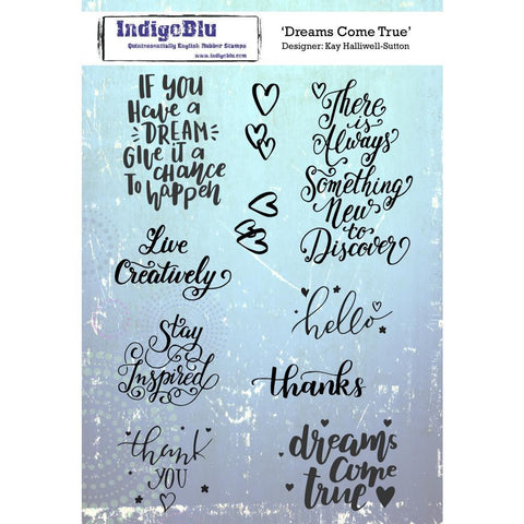 IndigoBlu Cling Mounted Stamp 8x5.5inch - Dreams Come True