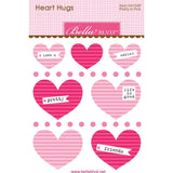Bella Blvd Legacy Heart Hugs Embellishments 7 pack - Pretty In Pink