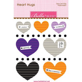 Bella Blvd Legacy Heart Hugs Embellishments 7 pack - Halloween