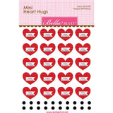 Bella Blvd Legacy Mini Heart Hugs Embellishments 20 pack - Happy Birthdays
