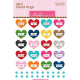 Bella Blvd Legacy Mini Heart Hugs Embellishments 20 pack - Sentiments