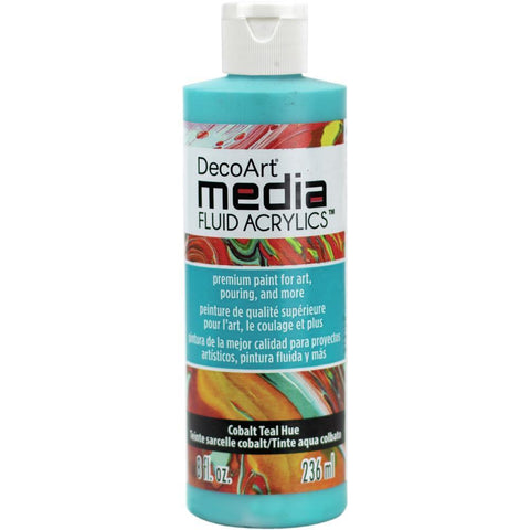 Deco Art - Media Fluid Acrylic Paint 8oz - Cobalt Teal Blue
