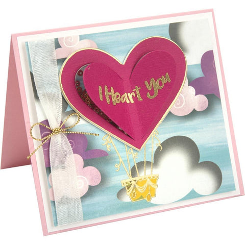 Sizzix Framelits Die & Stamp Set By Lindsey Serata 5 pack - I Heart You