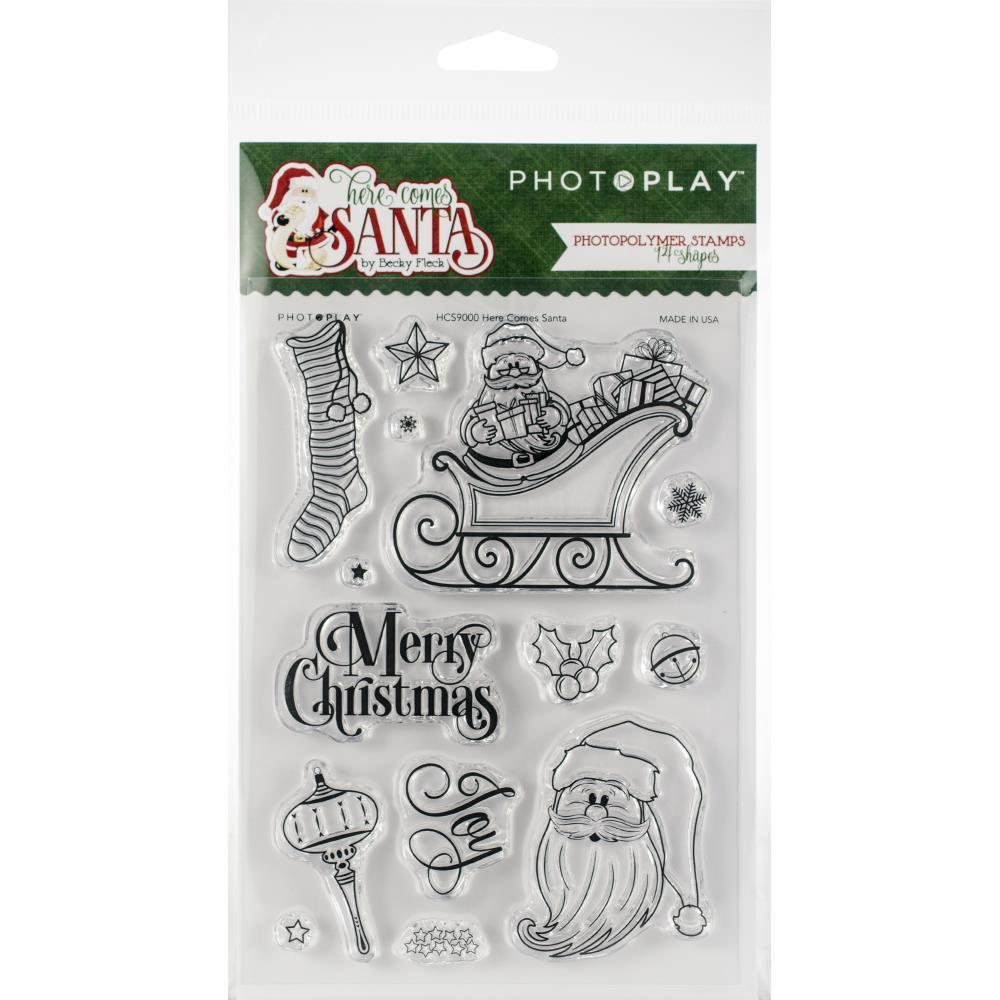 PhotoPlay - Photopolymer Stamp - Here Comes Santa