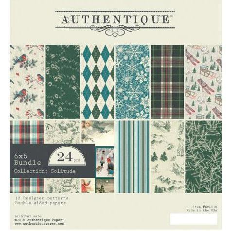 Authentique D/S Cardstock Pad 6x6 inch  24 pack - Solitude
