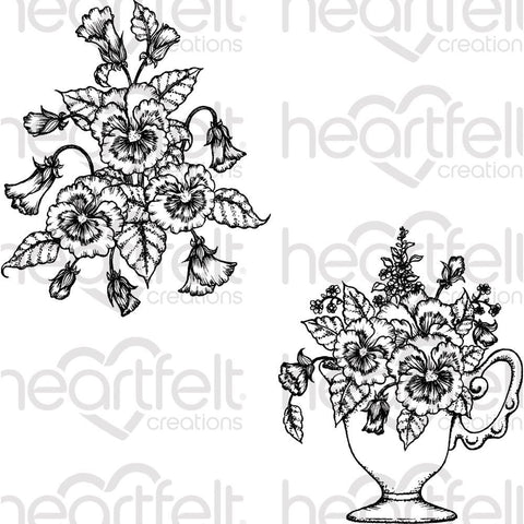 Heartfelt Creations - Cling Rubber Stamp Set - Burst Of Spring