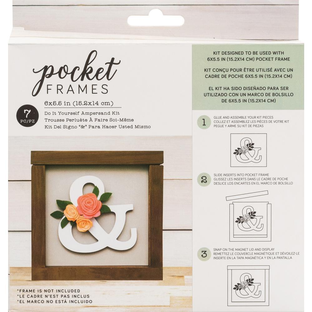 American Crafts - Pocket Frames Insert Kit 6X5.5in 7 per pack - Ampersand with Insert