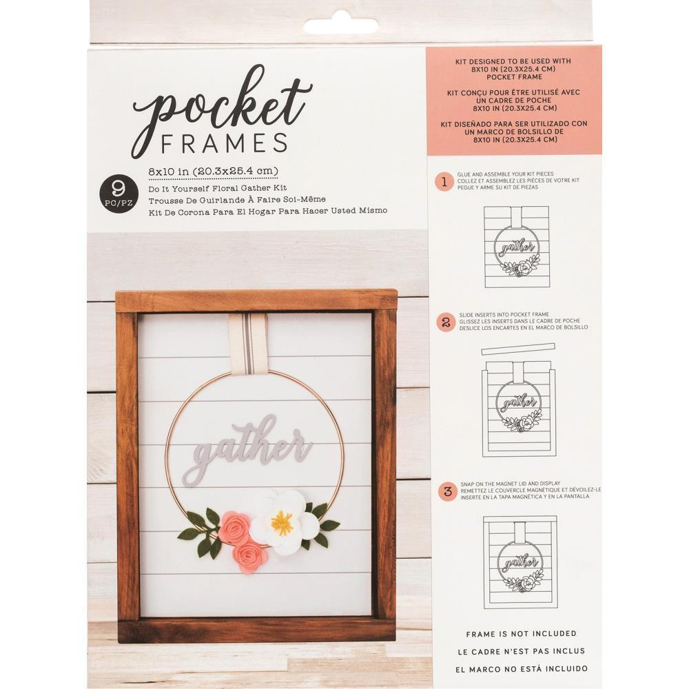 American Crafts - Pocket Frames Insert Kit 8X10in 9 per pack - Gather Wreath with Insert