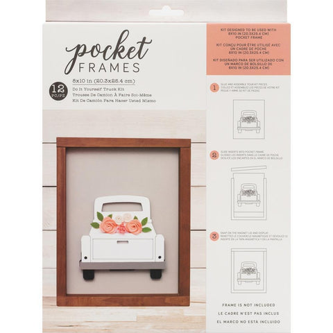 American Crafts - Details 2 Enjoy Collection - Pocket Frames Kit - 8 x 10 - Do-It-Yourself - Truck