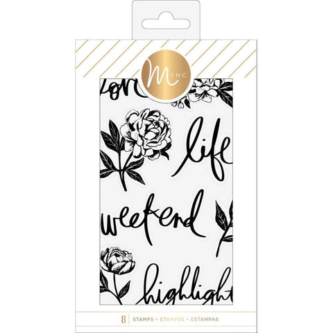 Heidi Swapp - Minc Clear Stamps 8 per pack - Floral