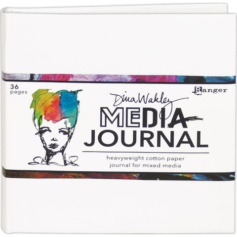 Dina Wakley Media White Journal 6 inch X6 inch Includes Heavyweight Watercolour Paper