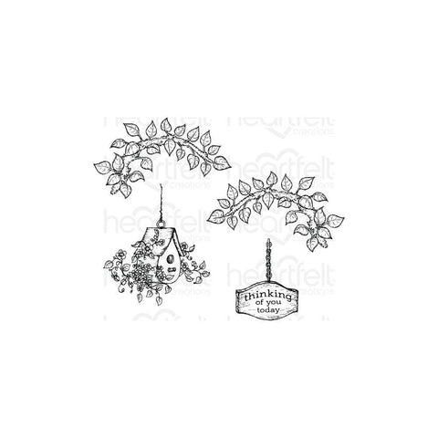 Heartfelt Creations Cling Rubber Stamps - Cherry Blossom Retreat