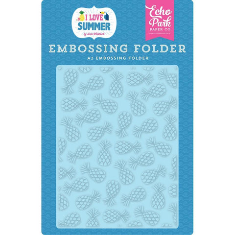 Echo Park Embossing Folder A2 - Summer Pineapples
