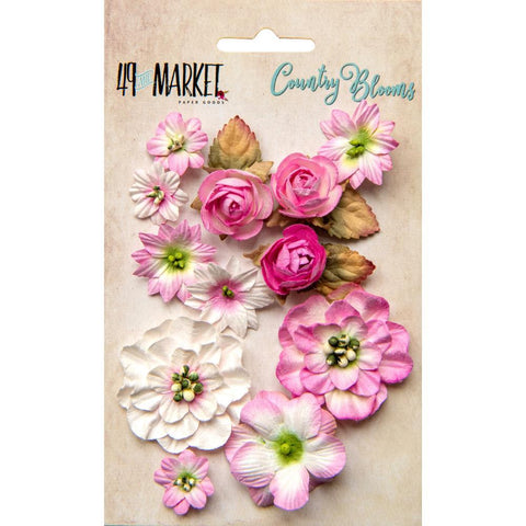 49 and Market - Flower Embellishments - Country Blooms - Blush