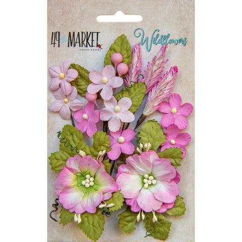 49 and Market - Flower Embellishments - Wildflowers - Punch