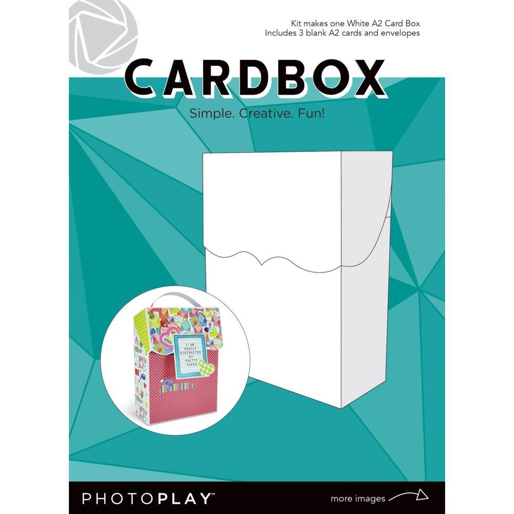 Photoplay - A2 Cardbox with 3 Cards & Envelopes - White