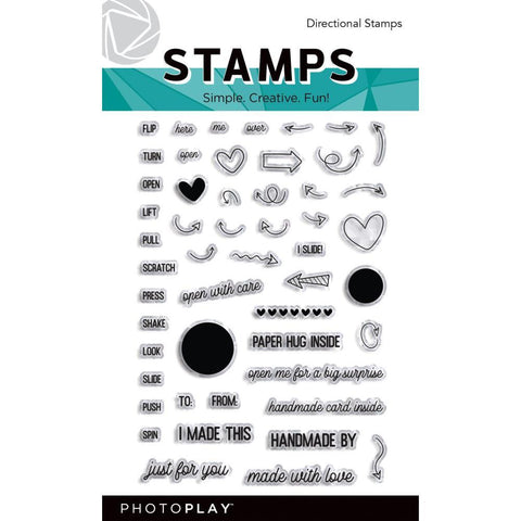 Photoplay - Photopolymer 4x6 inch Stamps  - Directional