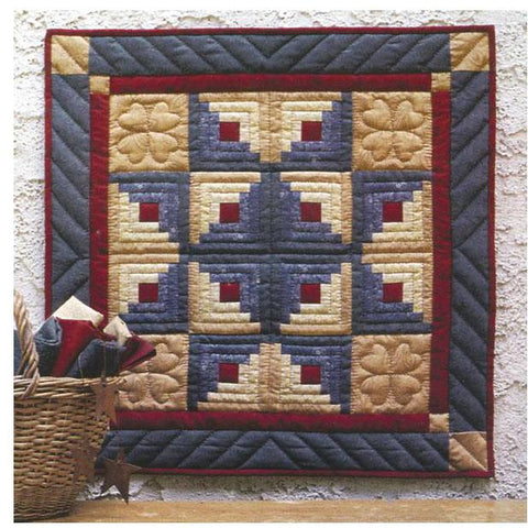 Rachels Of Greenfield - Wall Quilt Kit 22 inch X22 inch - Log Cabin
