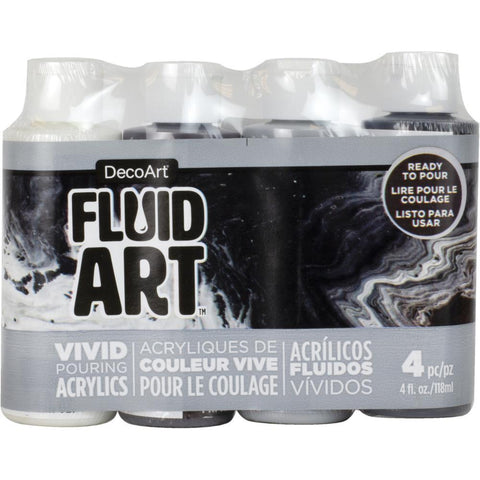 Deco Art - FluidArt Paint Pouring Value Pack 4 pack - Neutral