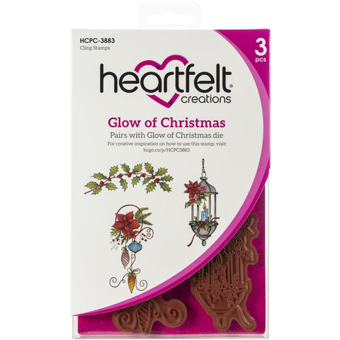 Heartfelt Creations Cling Rubber Stamp Set - Glow Of Christmas