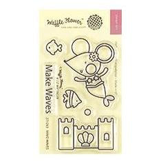 Waffle Flower Crafts Clear Stamps 2 inch X3 inch - Make Waves
