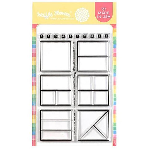 Waffle Flower Crafts Clear Stamps 4 inch X6 inch - Colour Combos