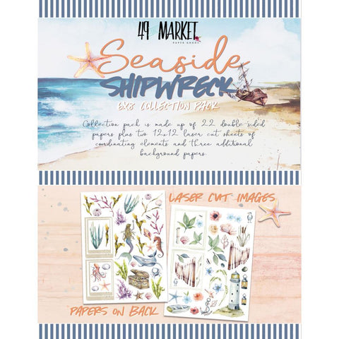 49 And Market - Collection Pack 6 inch X8 inch - Shipwreck & Seaside