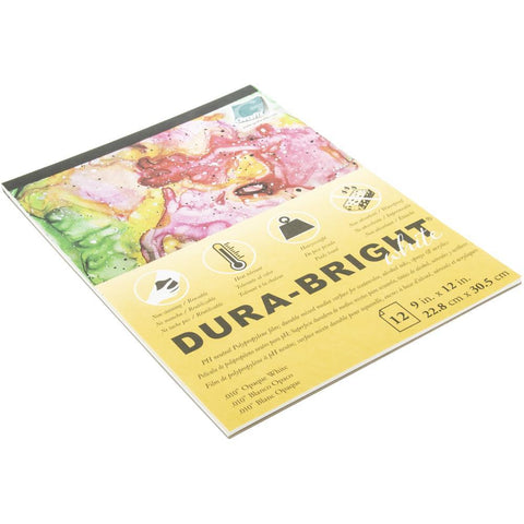 Grafix Dura-Bright Opaque White Pad .010 inch thick x 9inch x12inch, 12 Sheets