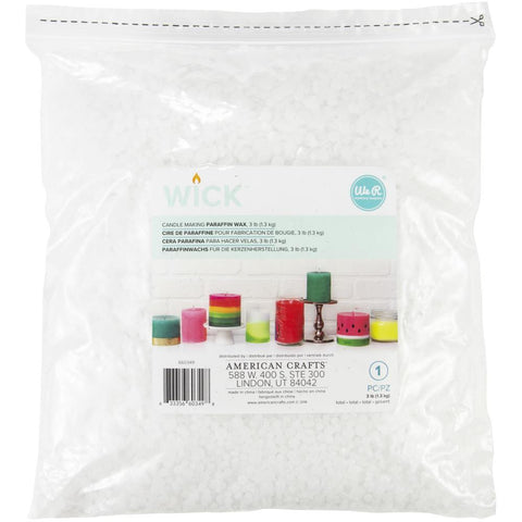 We R Memory Keepers - Wick Paraffin Wax 3lb