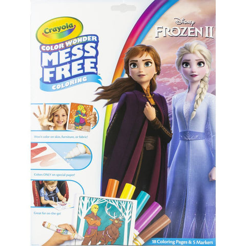 Crayola Colour Wonder Colouring Pad & Markers - Frozen 2