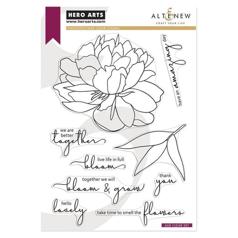 Hero Arts + Altenew 6in x 8in Stamp Set - Bloom & Grow