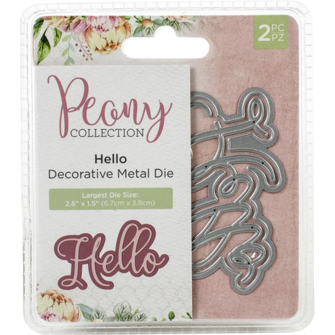 Crafter's Companion - Nature's Garden Peony Dies 2 pack - Hello