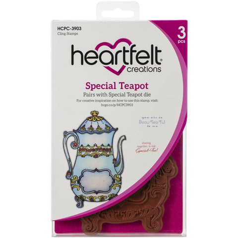 Heartfelt Creations Cling Rubber Stamp Set Special Teapot