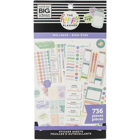 Happy Planner Sticker Value Pack - Wellness, 736 pack