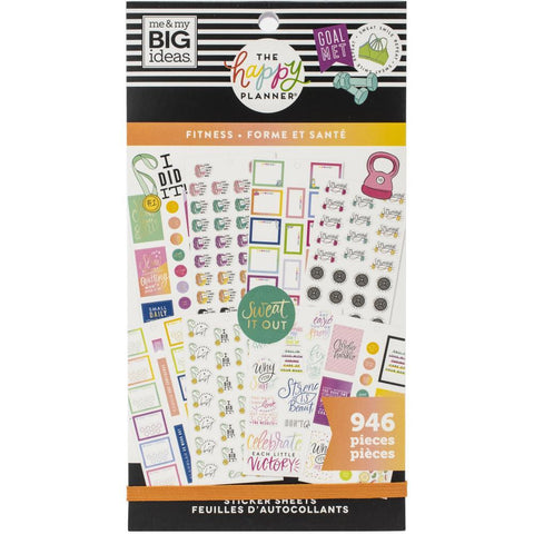 Happy Planner Sticker Value Pack - Fitness Workout, 946 pack