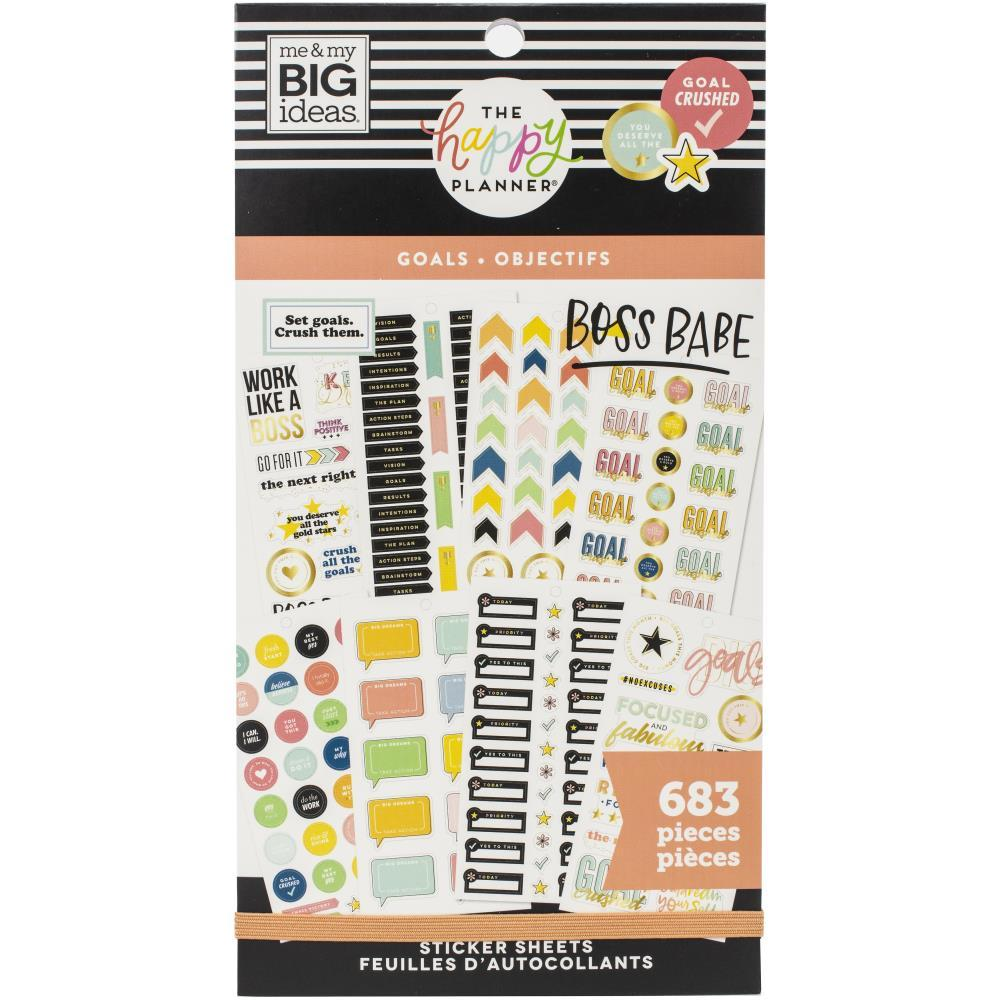 Happy Planner Sticker Value Pack - Goals, 683 pack