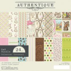 Authentique Double-Sided Cardstock Pad 6in x 6in 24 pack - Cottontail